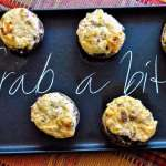 Bacon and White Cheddar Stuffed Mushrooms