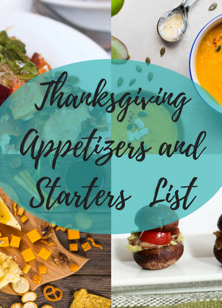 Thanksgiving Appetizers and Starters Title