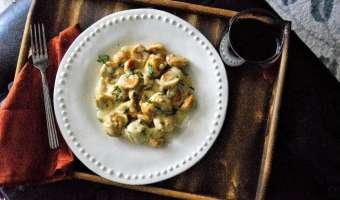 Pumpkin and Chipotle White Bean Hummus Dumplings