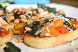 Turkey Tomato Spinach and Garlic Crostini #2
