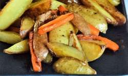 butter carrots and potato wedges Feature