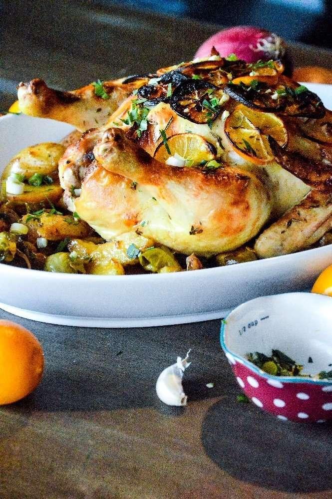 Lemon Herb Roasted Chicken Complete
