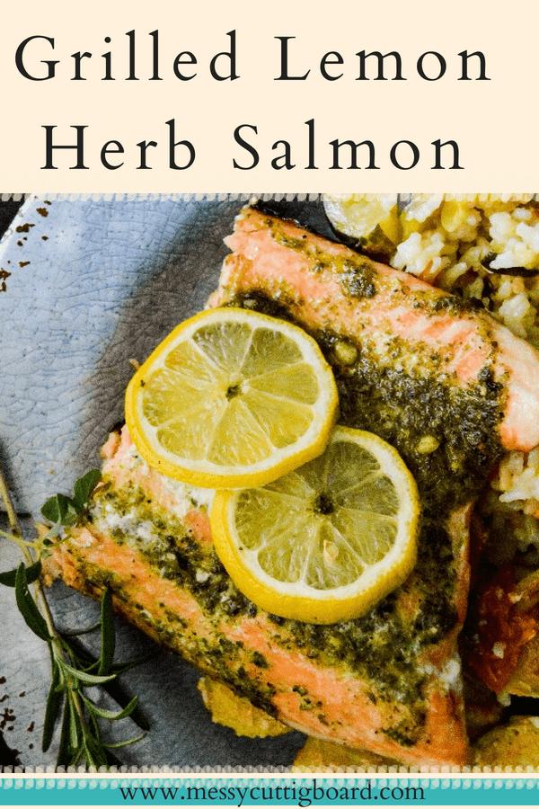 Grilled Lemon Herb Salmon pin