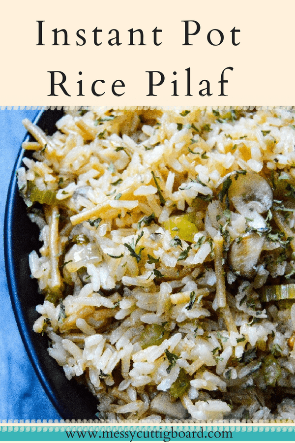 Instant Pot Rice Pilaf pin