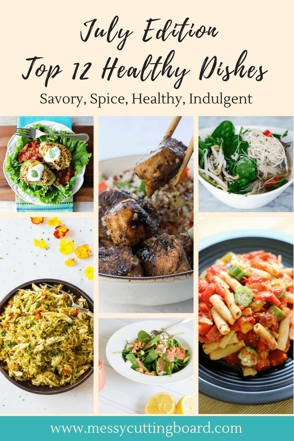 July Edition Top 12 Healthy Dishes Title