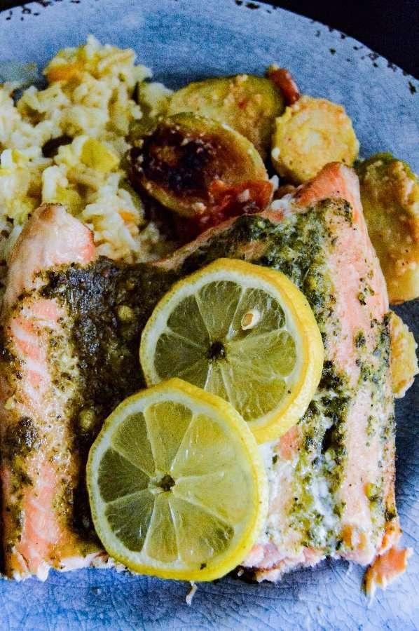 Grilled Lemon Herb Salmon direct