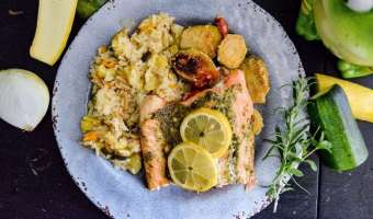 Grilled Lemon Herb Salmon feature