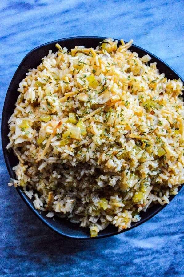 Instant Pot Rice Pilaf Full Above