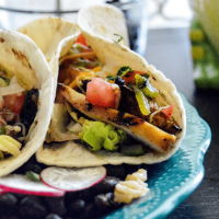 Poblano Tequila Chicken Tacos