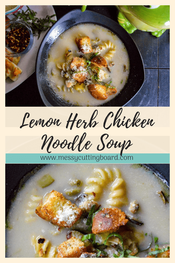 Lemon Herb Chicken Noodle Soup Pin
