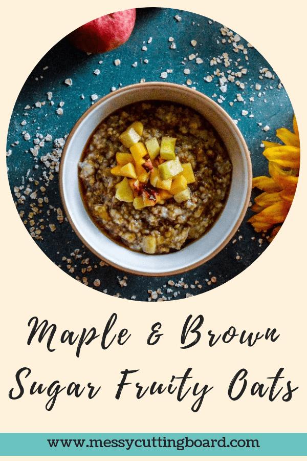 Maple Brown Sugar Fruity Oats Title