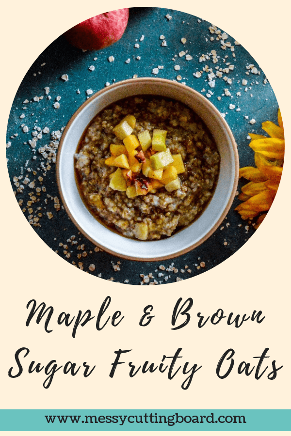 Maple Brown Sugar Fruity Oats Title
