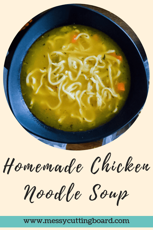 Homemade Chicken Noodle Soup title