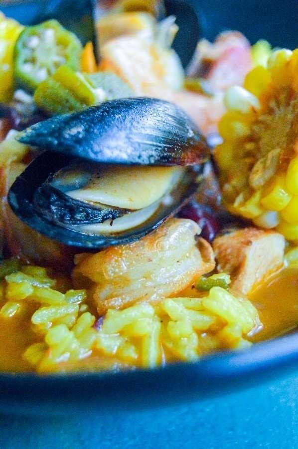 Cajun seafood and rice