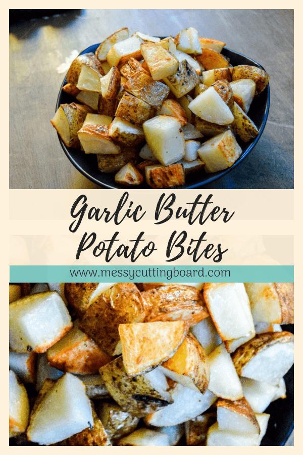 Garlic Butter Potato Chunks Pin