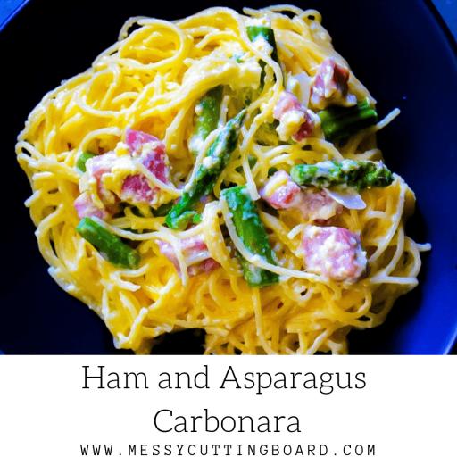 Ham and Asparagus Carbonara