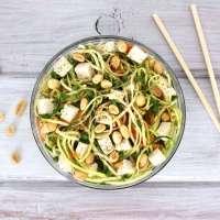 Thai Peanut Zucchini Noodle Salad