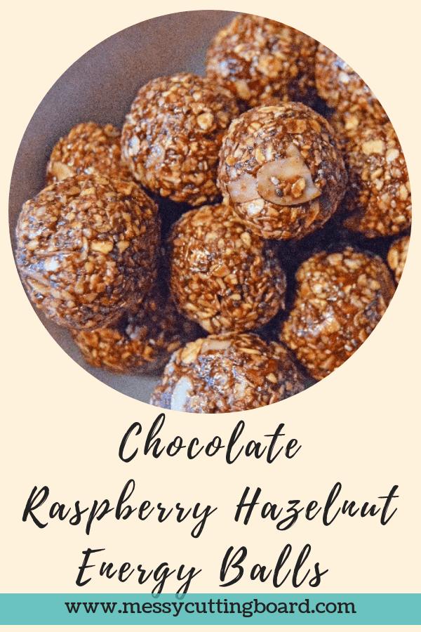 Title Chocolate Raspberry Hazelnut Energy Ball Treats