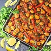 Harissa Chicken Sheet Pan Dinner