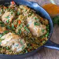 Peruvian Chicken and Rice (Arroz Con Pollo)