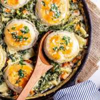 Skillet Vegetable Pie with Garlic Butter • The Cook Report