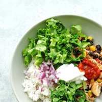 Healthy Slow Cooker Chicken Burrito Bowls