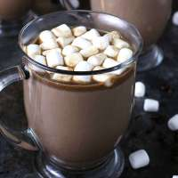 Slow Cooker Kahlua Hot Chocolate - Winter Cocktail and Dessert Combo