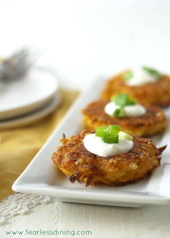 Gluten Free Cheddar Delicata Squash Fritters