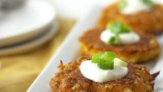 Gluten Free Cheddar Delicate Squash Fritters