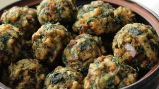 Spinach Stuffing Balls a 'Throwback' Recipe
