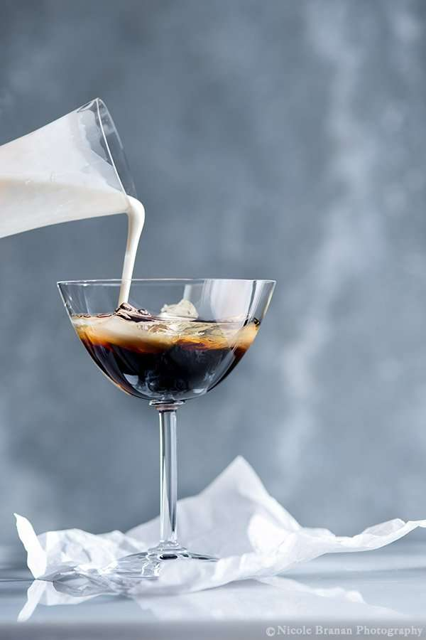 White Russian with Chai Spice-Infused Cream