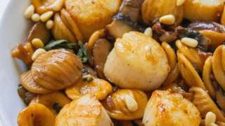 Scallops in Brown Butter Sage Sauce {date night pasta}