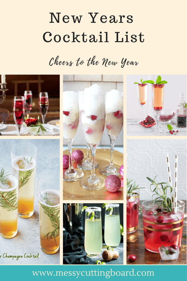Title for 12 New Years Cocktails