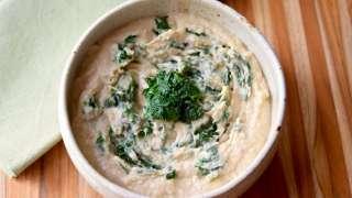 Roasted Garlic White Bean Spinach Dip