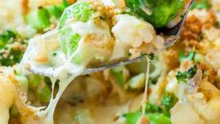 Broccoli Cauliflower Brussels Sprout Gratin