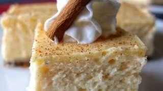 Eggnog Cheesecake Bars with Gingersnap Crust