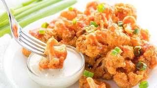 Baked Healthy Buffalo Cauliflower Bites Wings Recipe - Paleo & Keto