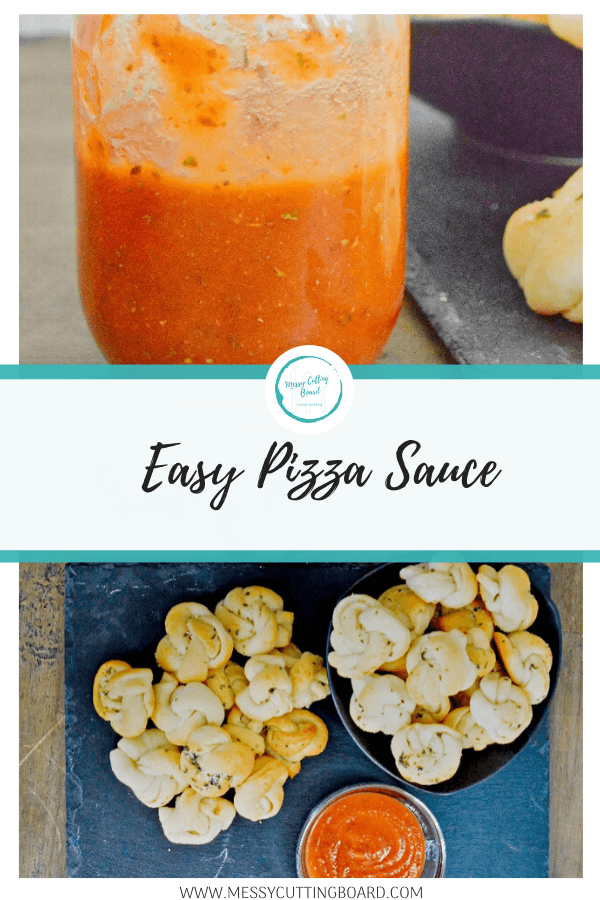Pinnable image for easy pizza sauce