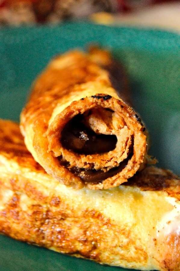Let's get a close up of the peanut butter chocolate french toast roll up