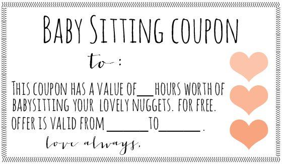 babysitting coupon - free download