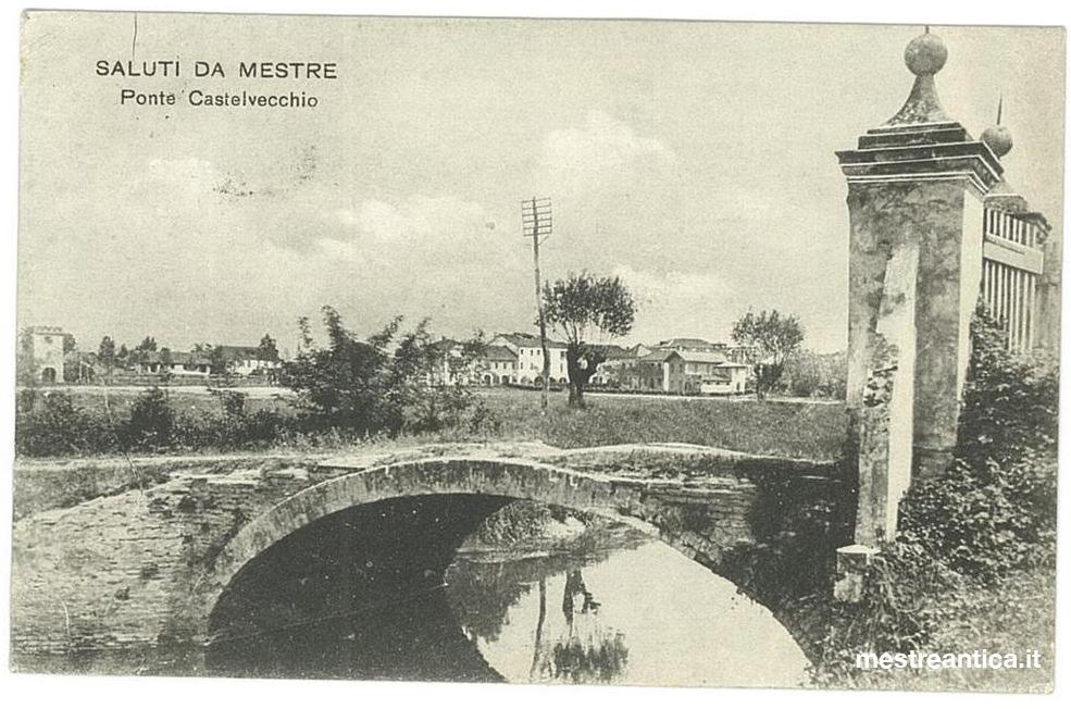Ponte di Castelvecchio da una cartolina d'epoca