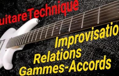 Improvisation : les relations gammes-accords