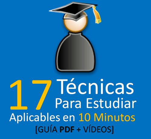 17 t cnicas de estudio para aprender a estudiar mejor for Tecnicas gastronomicas pdf