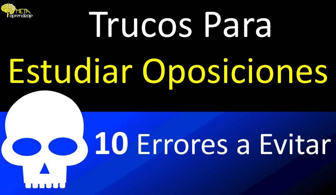 CONSEJOS Y TRUCOS PARA ESTUDIAR OPOSICIONES