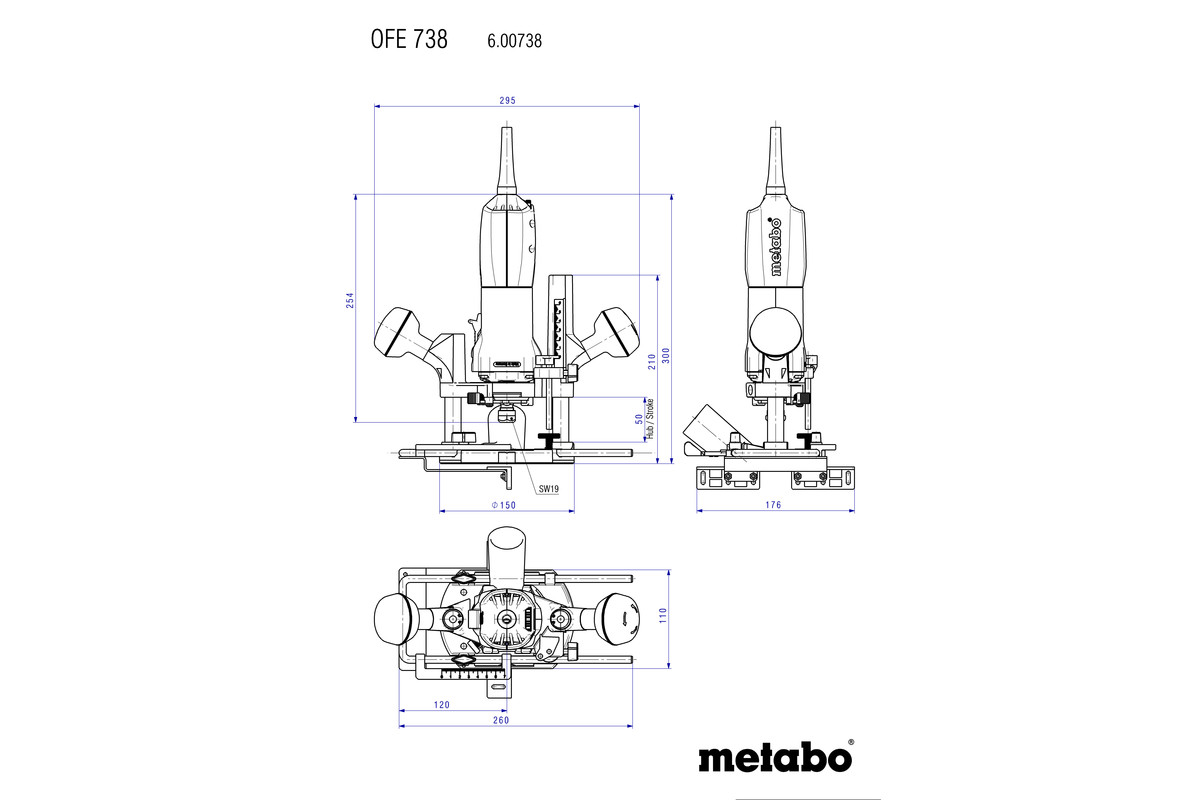 Ofe 738 Routers Router And Grinder Motor