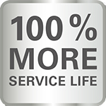 100% More Service Life