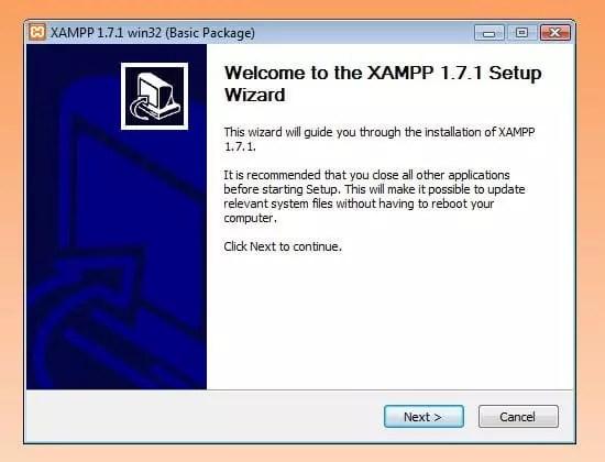 Assistant de configuration XAMPP