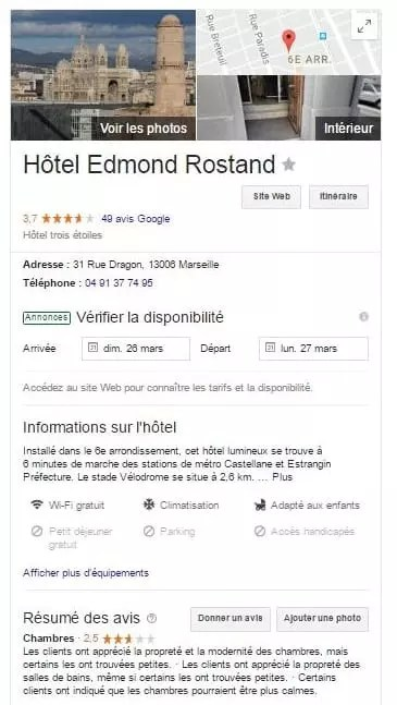 Fonction Google my business