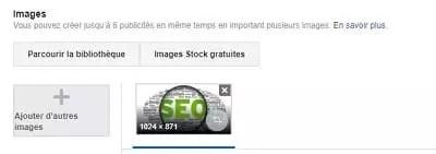 Capture d'écran de la façon de diffuser des annonces multimédia dans votre annonce