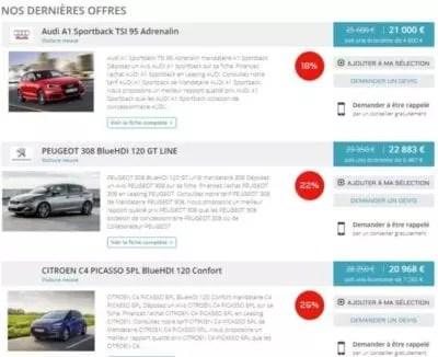 Boutique automobile en Ligne